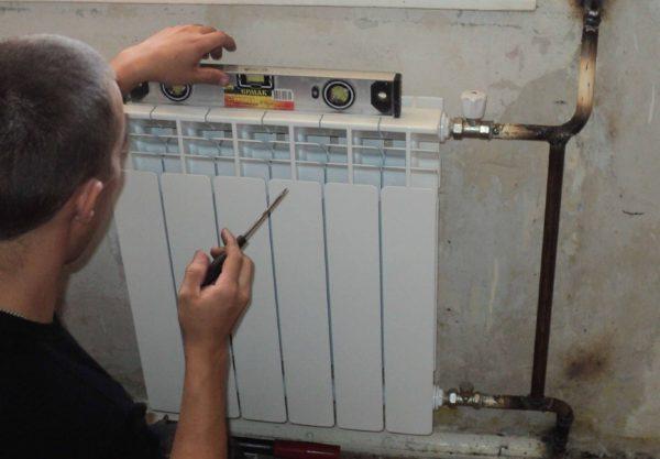Заключительные работы по наращиванию радиатора дома
