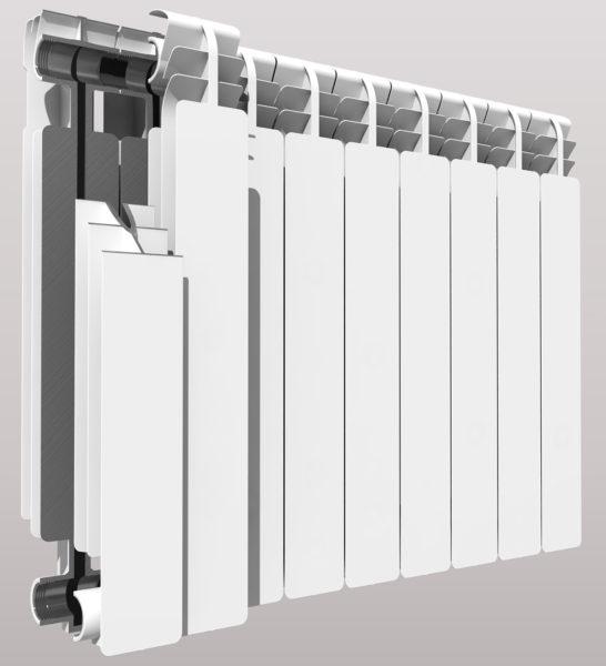 Составные части биметаллического радиатора