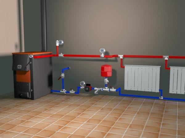 Планирование коммуникаций при подключении расширительного бака отопления