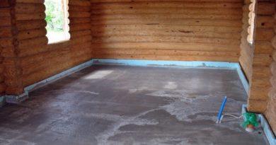 Преимущество бетонного пола в бане