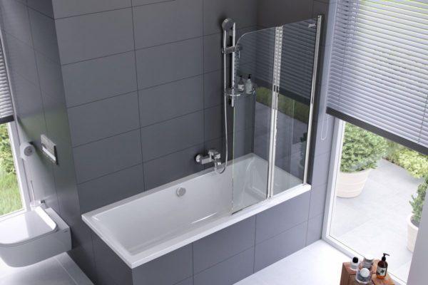 Акриловая ванна со шторкой